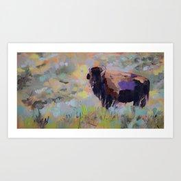 Small Bison Art Print