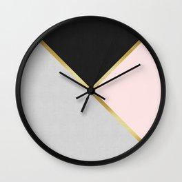 Gold Modern Art IX Wall Clock