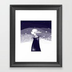 elf in the night Framed Art Print
