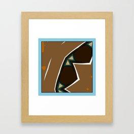 Brown Zags Framed Art Print