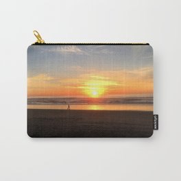 WALKING ON THE BEACH AT SUNSET Carry-All Pouch