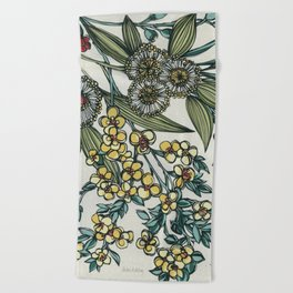 Australian Native Floral Beach Towel