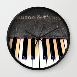 Antique Mason & Hamlin Piano Wall Clock