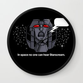 Space Scream Wall Clock
