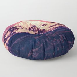 Mt Hood Mountain with Snow Floor Pillow