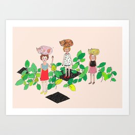 Cat Nip Art Print