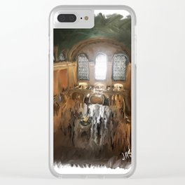 Grand Central Terminal in Digital Oils Clear iPhone Case