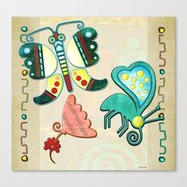 Zuni Butterfly Folk Art 2 Canvas Print
