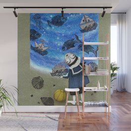 Day on the Beach Wall Mural