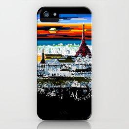 Invading Paris Space iPhone Case