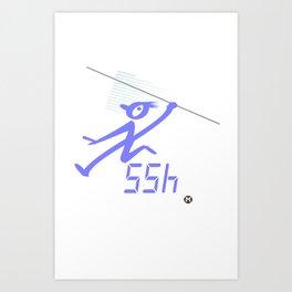 javelin record time Art Print