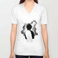 louis tomlinson V-neck T-shirts featuring WWA Louis Tomlinson by crystaltaysm