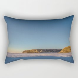 Winter, Lake Sakakawea, North Dakota Rectangular Pillow