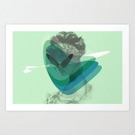 Corazón alcanzado Art Print