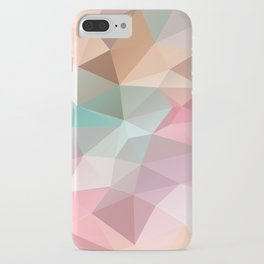 Abstract triangles polygonal pattern iPhone Case