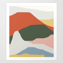 Mountains of Colors Art Print