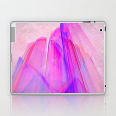 Pink sunset in the glowing city Laptop & iPad Skin
