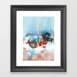 Copper Blue Abstract Sky Framed Art Print