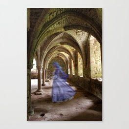 Blue Spectre in the Abbey Canvas Print