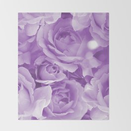 Violet Rose Bouquet For You - Valentine's Day #decor #society6 #homedecor Throw Blanket