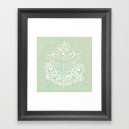 The Evil Eye Emblem  Framed Art Print