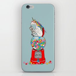 Unicorn Gumball Poop iPhone Skin