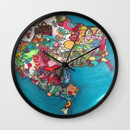 Colombia Verde Wall Clock