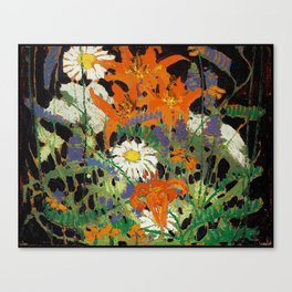Tom Thomson - Marguerites, Wood Lillies and Vetch - Canada, Canadian Oil Painting - Group of Seven Canvas Print