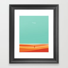 Where the sea meets the sky Framed Art Print