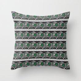 Mt Taranaki/Manukau Stamp Collage Throw Pillow