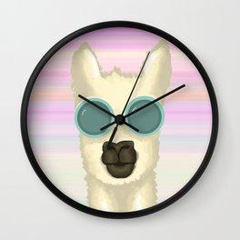 Llama Sunset Wall Clock