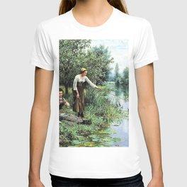 12,000pixel-500dpi - Two Women Fishing - Daniel Ridgway Knight T-shirt