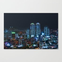 Daegu at Night Canvas Print