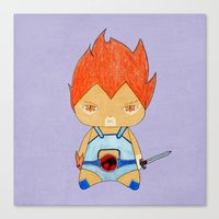 thundercats Canvas Prints featuring A Boy - Lion-O (Thundercats) by Christophe Chiozzi