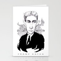 kafka Stationery Cards featuring Franz Kafka by Howard Coale