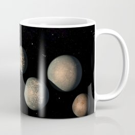 1978. llustration of TRAPPIST-1 Planets as of Feb. 2018  Coffee Mug