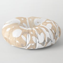 Whimsical watercolor flowers – neutral Floor Pillow