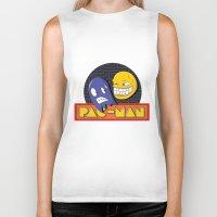 pac man Biker Tanks featuring pac-man by Jung Imjen