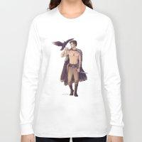 warrior Long Sleeve T-shirts featuring Warrior by brightfallenstars