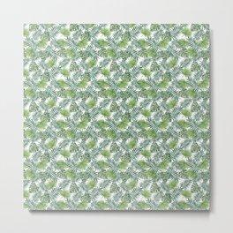 Green Palm Leaves Metal Print