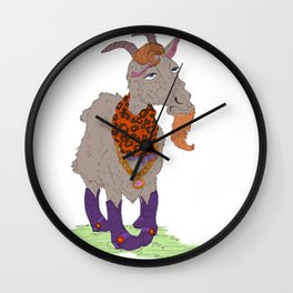 Mr. Gaudy Goat Wall Clock