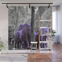 Purple guests Wall Mural