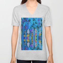 Peeking Through The Pursuit of Happiness a Mesmerizing Experience by annmariescreations Unisex V-Neck