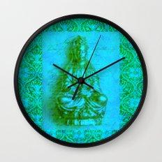 Jade Kwan Yin Wall Clock