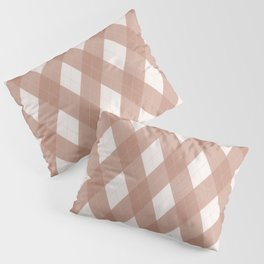 Sherwin Williams Cavern Clay SW7701 Argyle Plaid, Diamond Pattern Pillow Sham