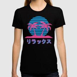 Pastel Harajuku design for Otakus. Aesthetic vaporwave style graphic T-shirt