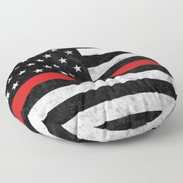 Thin Red Line Floor Pillow