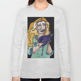 Karen Sure Loves Eggplants Long Sleeve T-shirt