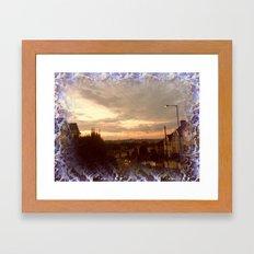 Urban Nightfall. Framed Art Print