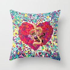 Love Diamond Throw Pillow